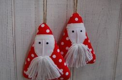 Mikołaje - ozdoba na choinkę