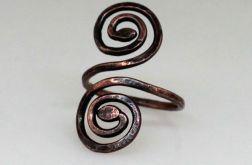 Zawijasy - miedziany pierścionek 190701-01