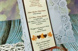 Zaproszenia ślubne -Perfect Love- autumn