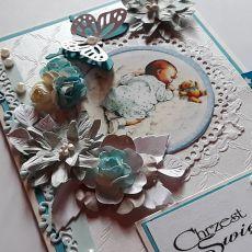 Kartka na chrzest kopertówka