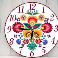 Zegar Ścienny w Stylu Folk Łowicka