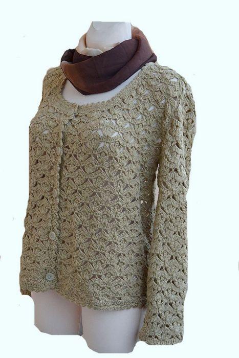 Sweterek w kolorze zimnego beżu ;o)