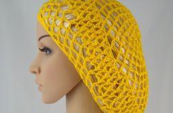 plażowa siatka na włosy w kolorze żółtym