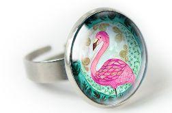 Flaming pierścionek z ilustracją