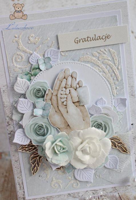 Kartka na narodziny chrzest Tiny Love1 GOTOWA -