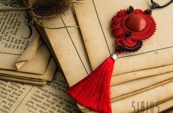 Czerwony wisior soutache w hiszpańskim stylu