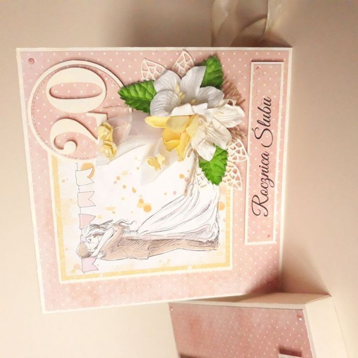 Rocznicowa kartka ślubna
