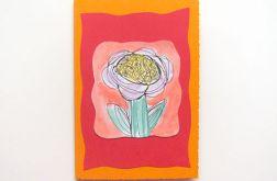 Kartka kwiatek malowany 7