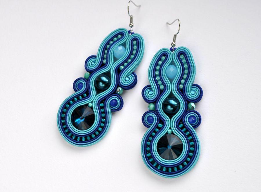 Kolczyki niebiesko-turkusowe 1
