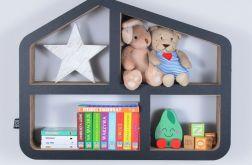 Półka na książki zabawki DOMEK | czarny