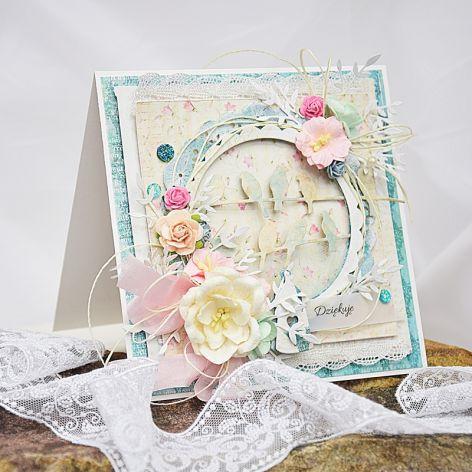 Pastelowa kartka ślubna