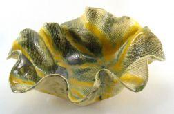 Miska ceramiczna żółto zielona