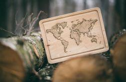 Deska do krojenia i serwowania Mapa Świata