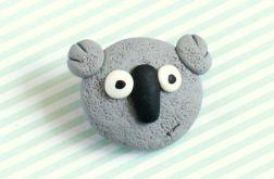 Miś koala - broszka przypinka z Fimo