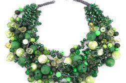 3922 zielony naszyjnik kolia korale