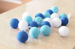 "Cotton balls lights - girlandy ""Morza Południowe"""