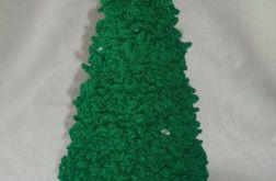 Zielona świecąca choinka