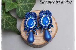 Kolczyki sutasz Elegance by dudqa niebieskie