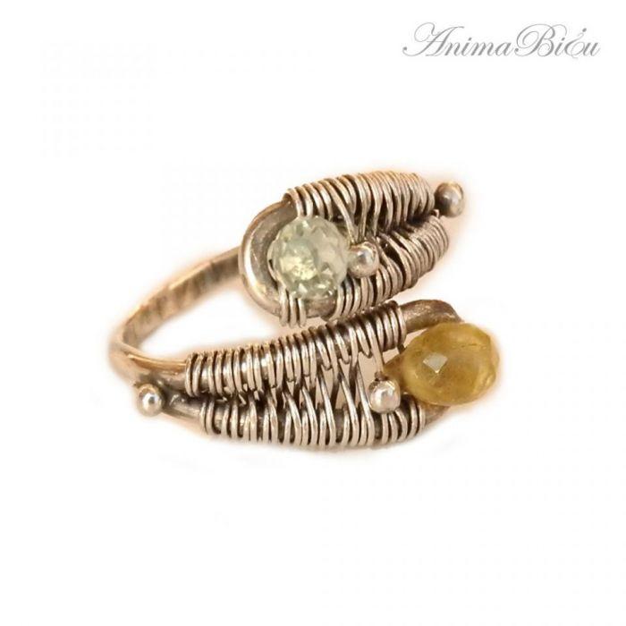 Pierścionek srebrny Akwamaryn