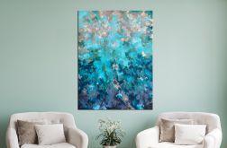 """Zielony obraz abstrakcyjny """"My Story"""" 70x100 cm"""