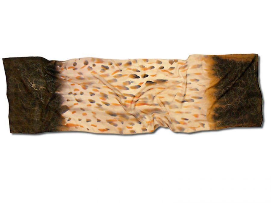 Szal jedwabny ręcznie malowany – Afryka