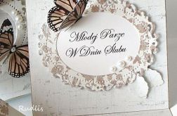 Ślubne pudełko z motylami #1