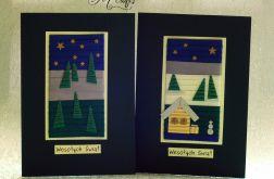 W zimowej scenerii...Komplet 2 kartek