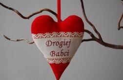 Drogiej Babci - czerwień serca