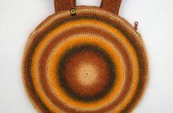 torebka w brązach i rudościach
