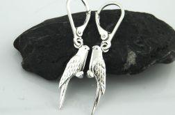 Kolczyki srebrne papużki