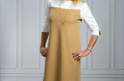 Sukienka dresowa oversize CAMEL