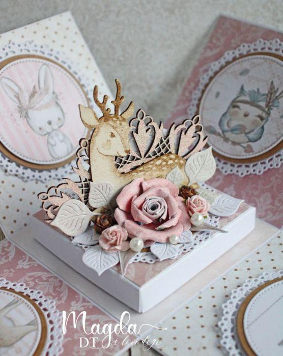 Exploding box na urodziny roczek Leśny GOTOWY