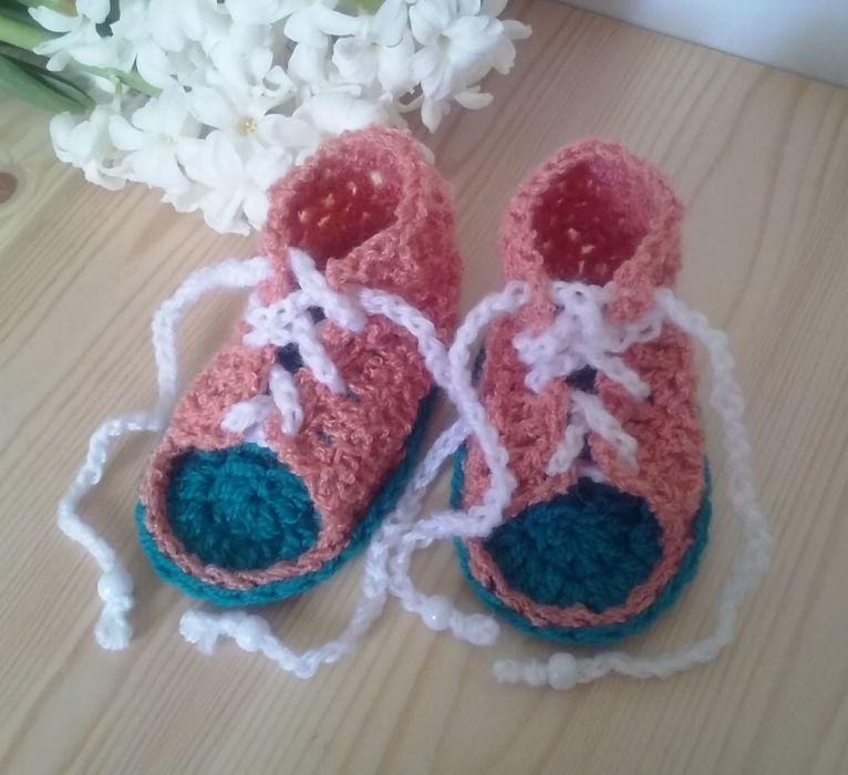 Sandałki sznurowane 10cm - buciki nimowlęce