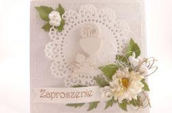 Komunijne z kwiatami nr1 - Zaproszenia