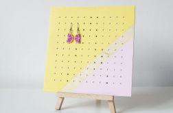 MIDI pastelowy stojący organizer na kolczyki