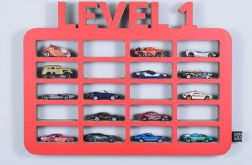 Półka na resoraki GARAŻ LEVEL1 | czerwony