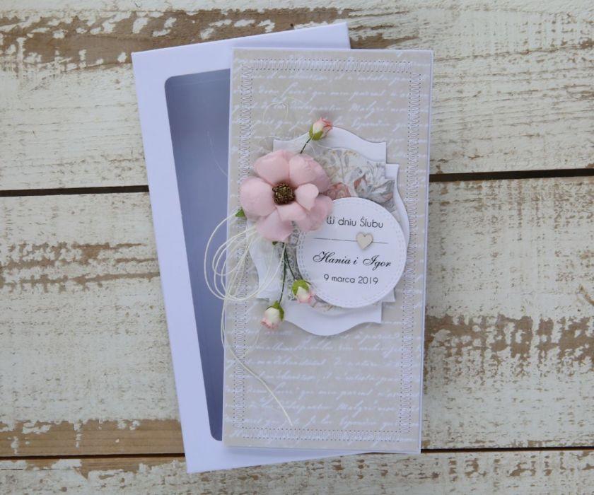 Kartka ślubna z personalizacją + pudełko a12