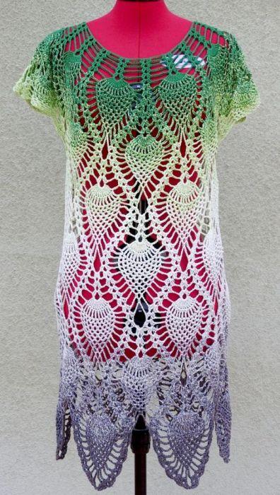 Tunika w ananasy - bluzka