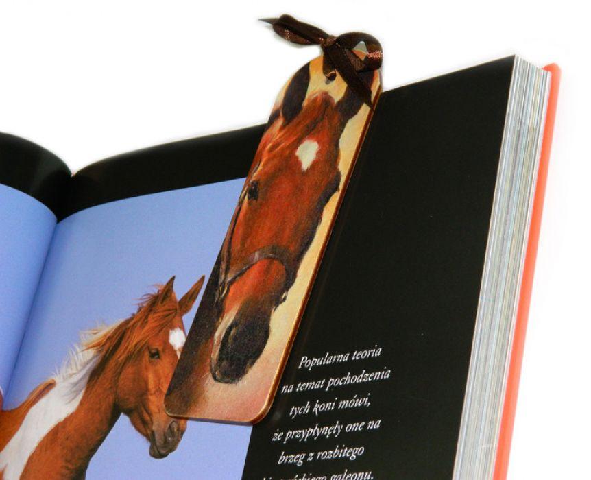 Zakładka - Koń kasztan