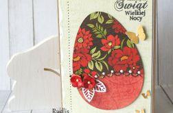Kolorowe jajko - kartka wielkanocna II