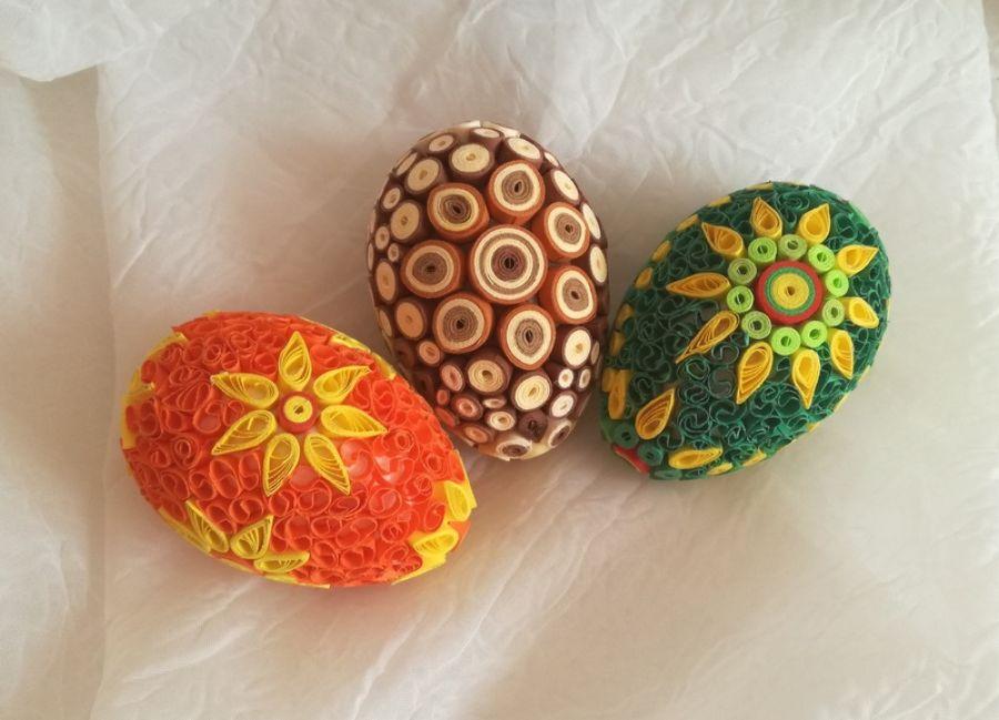 Pisanki - jajeczka quillingowe