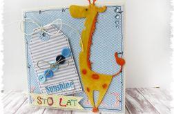 Kartka urodzinowa z żyrafą