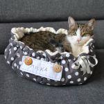 Mięciutki koszyk dla kota