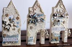 Świąteczny domek #3 z drewna
