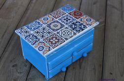 Komódka z lustrem, toaletka, styl azulejos