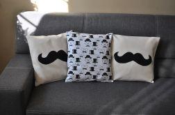 Poszewka  bawełniana - czarne wąsy, mustage