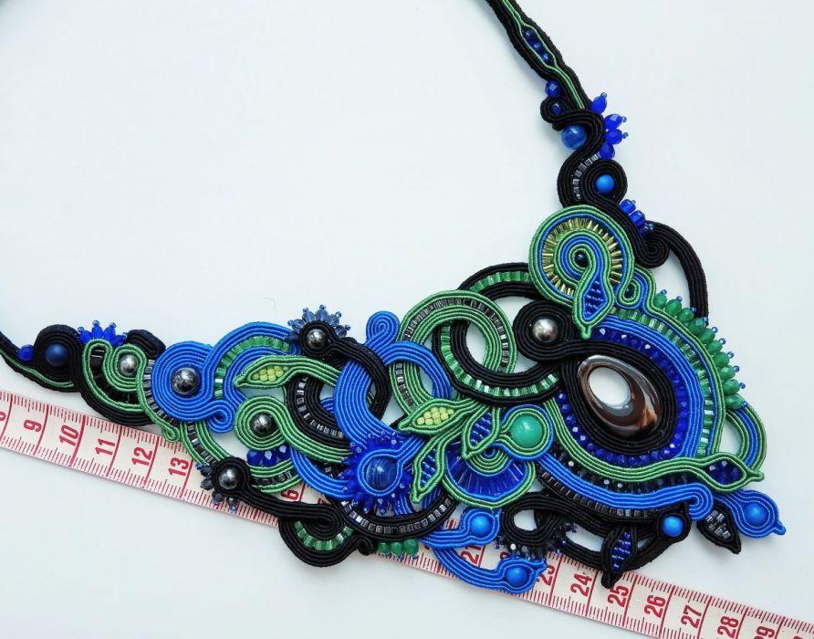 Komplet biżuterii sutasz kolczyki i naszyjnik