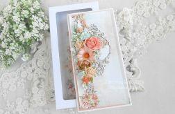 Ślubna kartka DL w pudełku 157