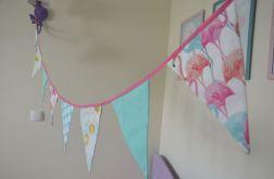 Kolorowa Girlanda Flamingi ok 180cm