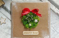 Kartka świąteczna z chrobotkim #2